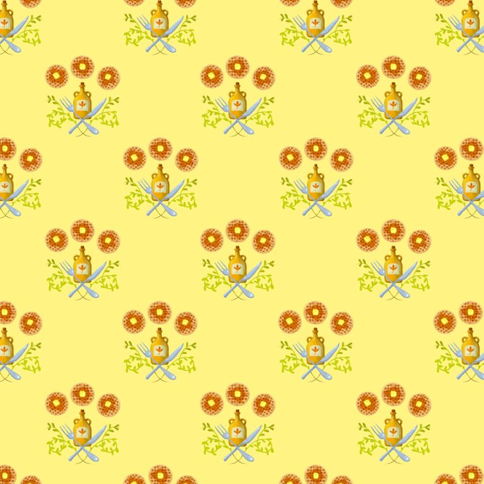 Waffle and Syrup (Yellow Cake Fluff) Duvet Cover