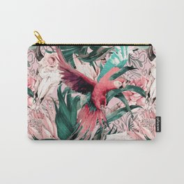 Tropical boho pink pattern Carry-All Pouch