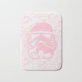 Pink Stormtrooper Peonies Flower Summer Pattern Bath Mat