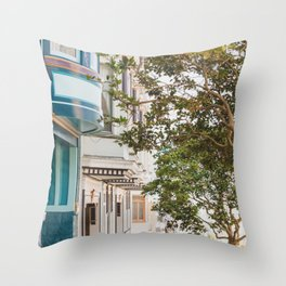 Climbing Hills in San Francisco Throw Pillow