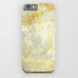 Dirty yellow gray brush art design iPhone Case