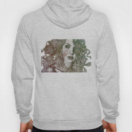 Wake: Autumn (street art woman with maple leaves tattoo) Hoody