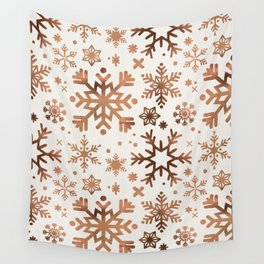 Snowflake Collection – Rose Gold Palette Wall Tapestry