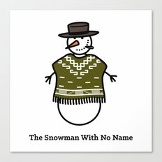 The Snowman With No Name Canvas Print