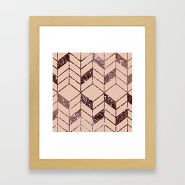Rose Gold Framed Art Print
