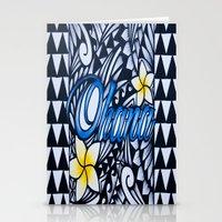 ohana Stationery Cards featuring Ohana (family in hawaiian) by Lonica Photography & Poly Designs