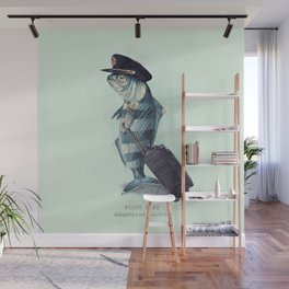 The Pilot (colour option) Wall Mural