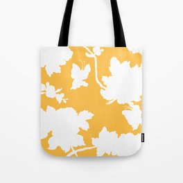 Chinoiserie Silhouette Golden Yellow Tote Bag