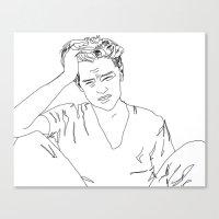 leonardo dicaprio Canvas Prints featuring Leonardo DiCaprio by Caron Lee