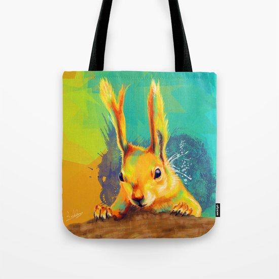 Tassel-eared Squirrel Tote Bag