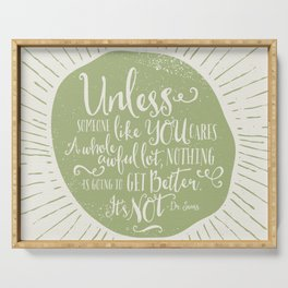 UNLESS - GREEN Serving Tray