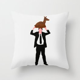 The story about me and the deer Throw Pillow