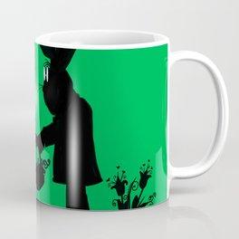 Silhouette Easter Bunny Gift Coffee Mug