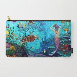 A Fish of a Different Color - Mermaid and seaturtle Carry-All Pouch