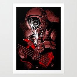 astronaut bass Art Print