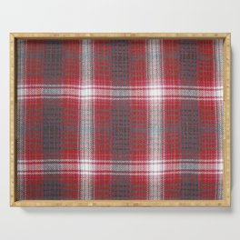 Texture #19 Plaid fabric. Serving Tray
