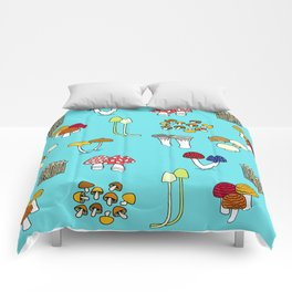 Kinoco Mushroom Families Comforters