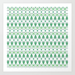 Christmas Tree Pattern- Green Art Print