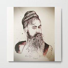 Beard's woman Metal Print