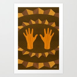 The ASL Marquetry - (ASL Marquetry Series) Art Print