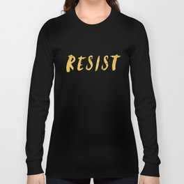 RESIST 6.0 - Freedom Gold on Navy #resistance Long Sleeve T-shirt