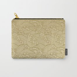 Golden Waves in Golden Carry-All Pouch