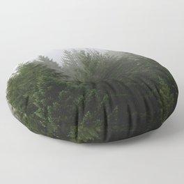 Foggy Trees Pacific Northwest Floor Pillow