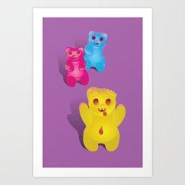 Zombie Gummy Bears Art Print