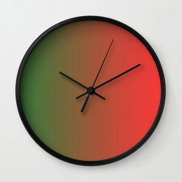 Green and Red Gradient 018 Wall Clock