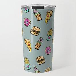 Fast Food Heaven Illustrated Pattern Travel Mug