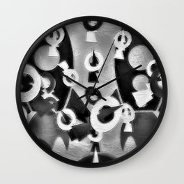 ROCKET MEN/ Pissing Contest Wall Clock