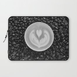 Coffee Beans (Black and White) Laptop Sleeve
