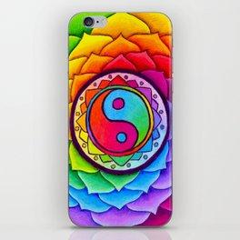 Healing Lotus Rainbow Yin Yang Mandala iPhone Skin