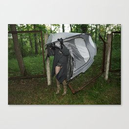 It's a Matter of Fact that it Always Rains on Tents Canvas Print
