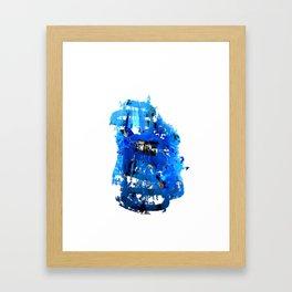 Blue Emotion Framed Art Print