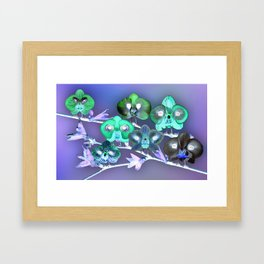 Orchid Birds Framed Art Print