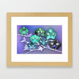 Orchid Birds Framed Art Print