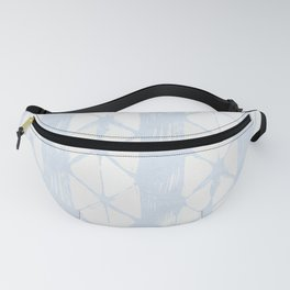 Simply Braided Chevron Sky Blue on Lunar Gray Fanny Pack
