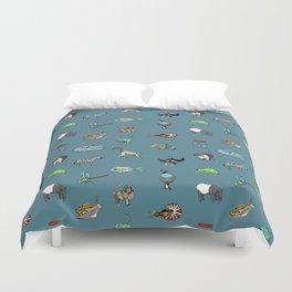 Animal alphabeth blue Duvet Cover
