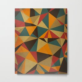 The Colorful Triangle Metal Print