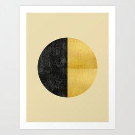 Black and Gold Circle 03 Art Print