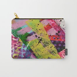 Nordic art, abstract print, abstract painting, abstract art print, abstract wall art, pink and blue Carry-All Pouch