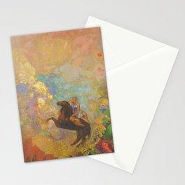 Muse on Pegasus - Odilon Redon Stationery Cards