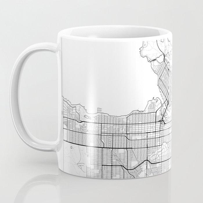Vancouver Map White Coffee Mug