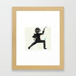 Cyber Ninja Framed Art Print