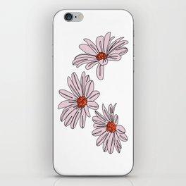 Daisy botanical line illustration - Bud iPhone Skin