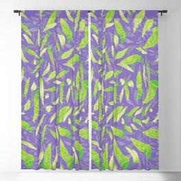 Green Splats on Purple Blackout Curtain
