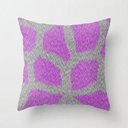 Giraffe in Pink Throw Pillow