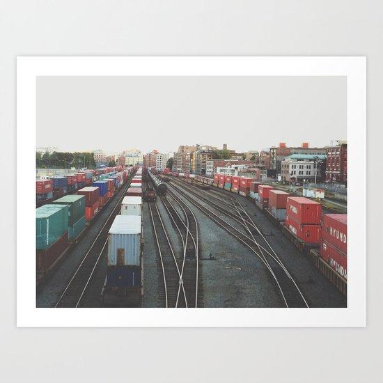 Tracks, Vancouver, BC, Canada  Art Print