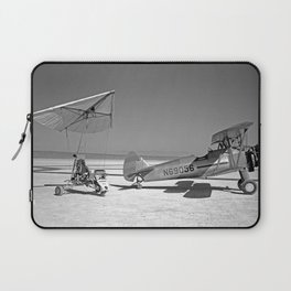 Paresev 1-A on Lakebed with Tow Plane Laptop Sleeve
